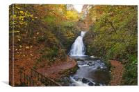 Glenoe Falls in Autumn, Canvas Print