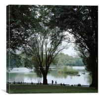 A Day in Central Park, Canvas Print