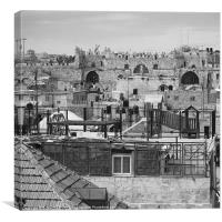 The Old City, Canvas Print