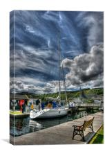 Crinan Canal at Ardrishaig, Scotland, Canvas Print