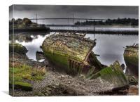 Boat Graveyard, Bowling, Scotland, Canvas Print