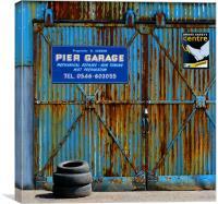 Rusted Garage Door. Ardrishaig, Canvas Print
