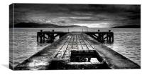 Portencross North Pier, Ayrshire, Scotland, Canvas Print