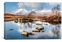 Lochan na h-Achlaise and Black Mount, Canvas Print