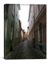 Cobbled Street, Canvas Print