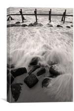 Happisburgh Surf, Canvas Print