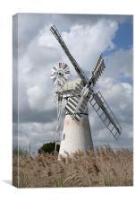 Thurne Drainage Mill, Norfolk., Canvas Print