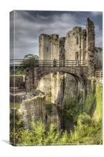 Castle Moat, Canvas Print