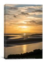 Severn Sundown, Canvas Print