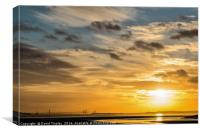 Severn Bridge Sunset, Canvas Print