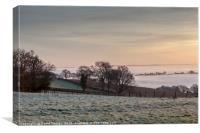 January Sunrise, Canvas Print