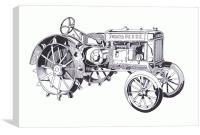 John Deere Model A 1934, Canvas Print