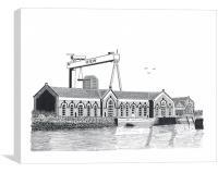 The Pump House, Titanic Quarter, Canvas Print