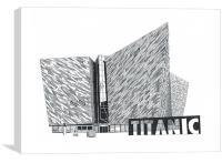 Titanic Belfast, Canvas Print