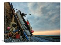 Birling Gap Fishing Boat, Canvas Print
