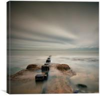 Posts into the Sea, Canvas Print
