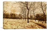 A brisk walk, Canvas Print