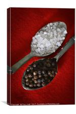 Peppercorns and Rocksalt, Canvas Print