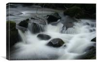 Fast water in the Lakes, Canvas Print