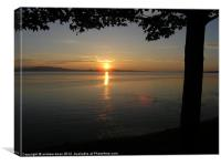 Sunset on the Exe estuary, Canvas Print