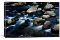 Rocks in the river Dart, Canvas Print