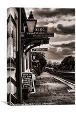 At the station, Canvas Print