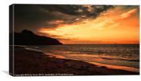 Exmouth Sunset, Canvas Print