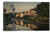 Dawn reflections, Canvas Print