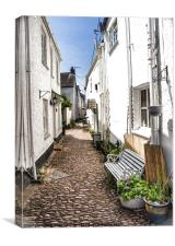 Up the alley, Canvas Print