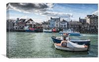 Harbourside Weymouth, Canvas Print