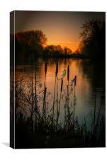 Dawn on the Exe, Canvas Print