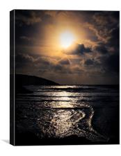 Golden light by the sea, Canvas Print