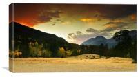 A Firey Autumn Sunset, Canvas Print