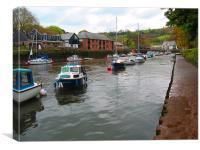 River Dart, Totnes, Devon, Canvas Print