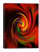 Swirls in Red, Canvas Print