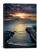 Calle de la Vica Sunset, Canvas Print