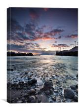 Calle de la Vica Bay Sunset, Canvas Print