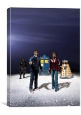 Doctor Who Figures, Canvas Print