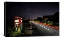 Rundown Phonebox By Night, Canvas Print