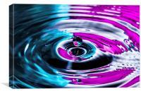 Water Drop Two Colours Splash, Canvas Print