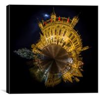 Bruges Pano Planet, Canvas Print