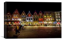 Christmas In Bruges, Canvas Print