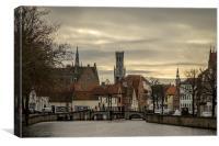 Bruges Skyline, Canvas Print
