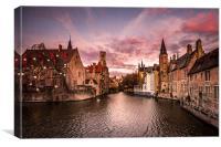 Bruges Sunrise, Canvas Print