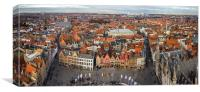 Ariel View of Bruges, Canvas Print