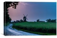 Lightning Over Windmill, Canvas Print