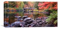 Autumn Bridge, Canvas Print