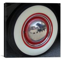 Buick Hubcap, Canvas Print