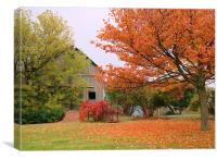 Autumn in the country, Canvas Print
