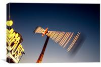 Booster Fairground Ride, Canvas Print